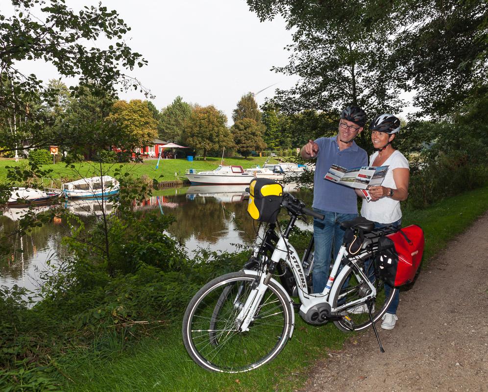 Geestewanderweg in Bremerhaven lässt sich auch gut mit dem Fahrrad befahren (c) Helmut Gross