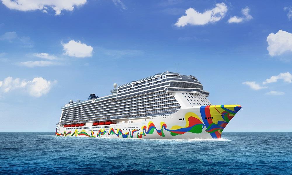 Das neue Kreuzfahrtschiff der Reederei Norwegian Cruise Line die Norwegian Encore