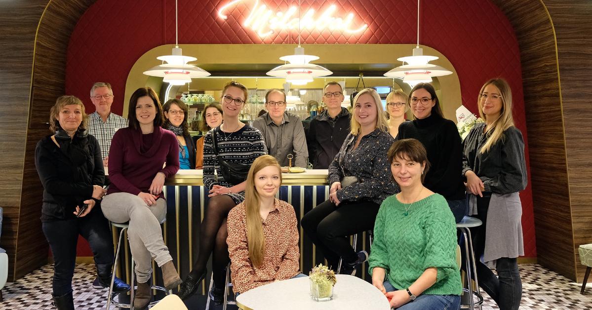 Die aboutcities Städteblogger  in der Milchbar  vom PS.SPEICHER Foto: Christoph Mischke