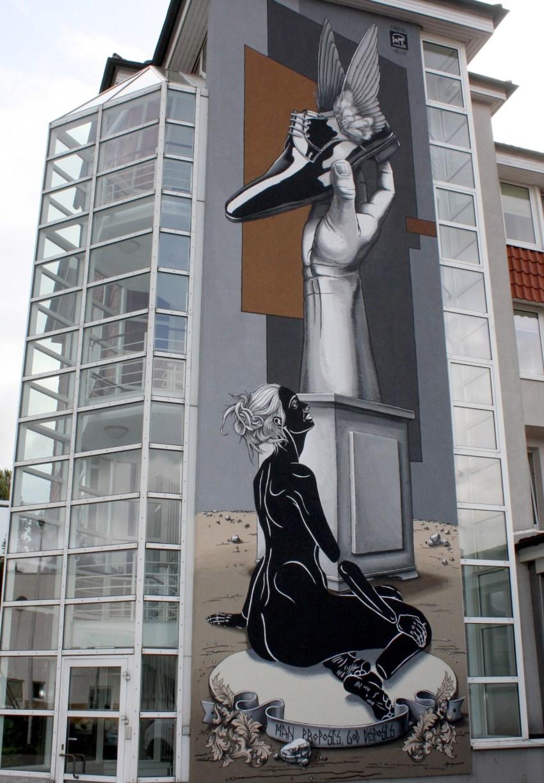 17 Meter hohe Street Art vom Karlsruher Künstler DOME.