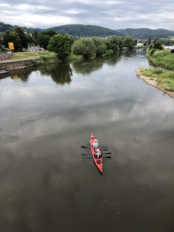 Wasserwanderung in Hann. Münden: Im Kayak auf der Werra in Witzenhausen