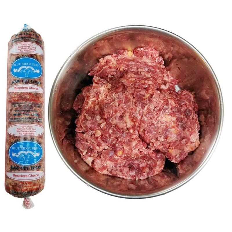 blue ridge beef breeders choice raw diet