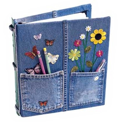 Decorate Notebook With Ribbon Pen Holder