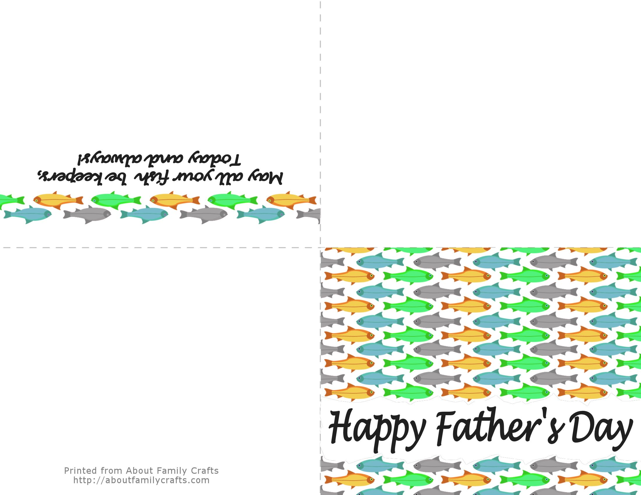 5 Printable Father S Day Cards About Family Crafts
