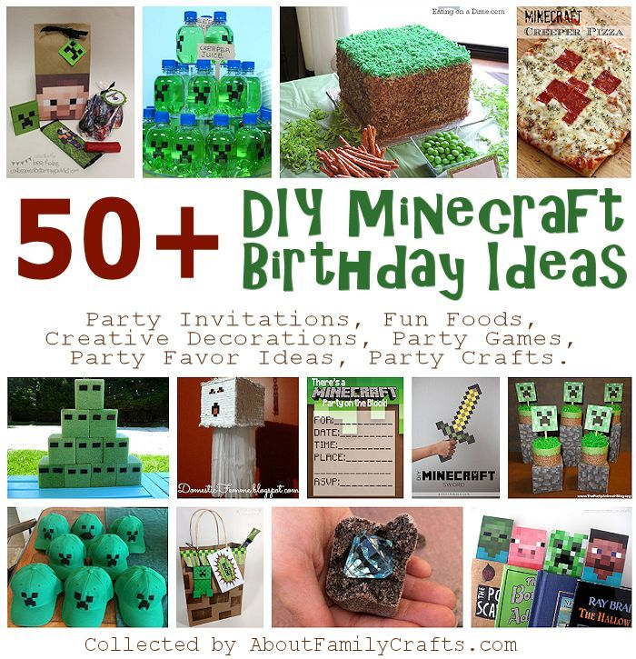 50 Diy Minecraft Birthday Party Ideas About Family Crafts