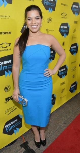 America Ferrera Are Feeling Blue at 'Cesar Chavez' SXSW Premiere!