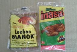 Lechon Manok crackers & Ma'am Inasal ulam crackers
