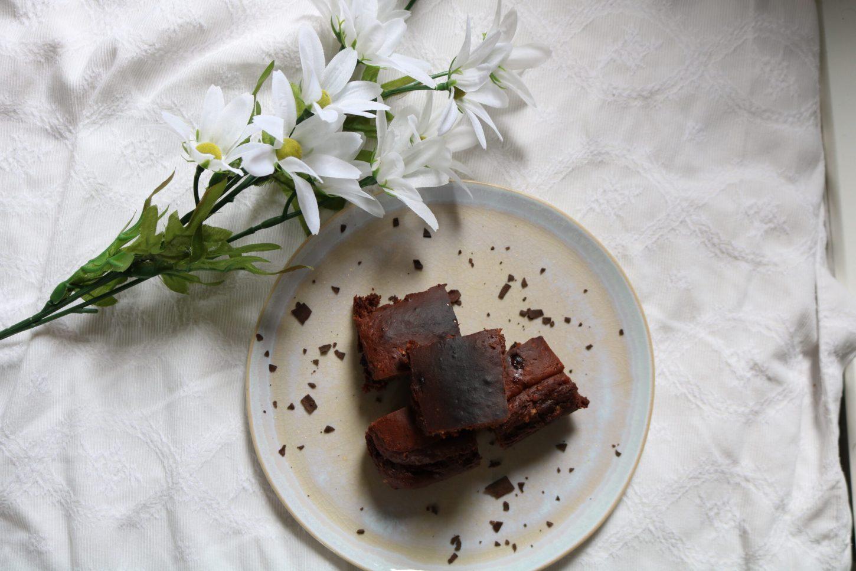 Healthy Vanilla Chocolate Brownie