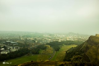 Edinburgh's city view from Arthur's Seat