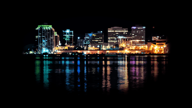 Downtown Halifax At Night