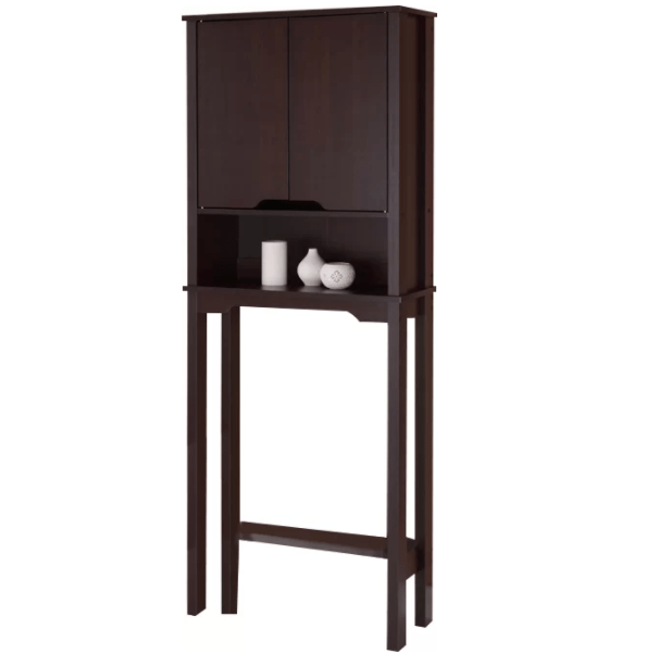 An over-the-toilet shelf
