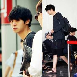 Jung Joon Young leaving Macau after filming on May 2016