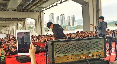 Jung Joon Young Band performing 6 songs at Seoul Food Festival 2016 in Jamsu bridge