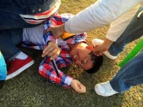 Jung Joon Young updating his Poketchu blog on naver about Jeju trip with Han Hyo Joo