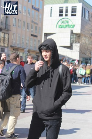 Jung Joon Young filming JTBC Hit Maker in Germany on April 2016