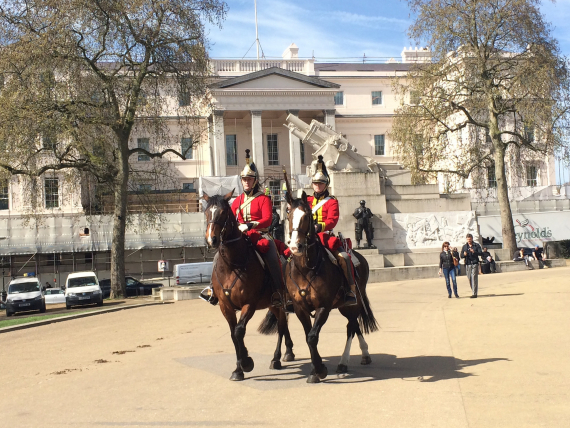 These mounted 'guards' came out for the preview day.