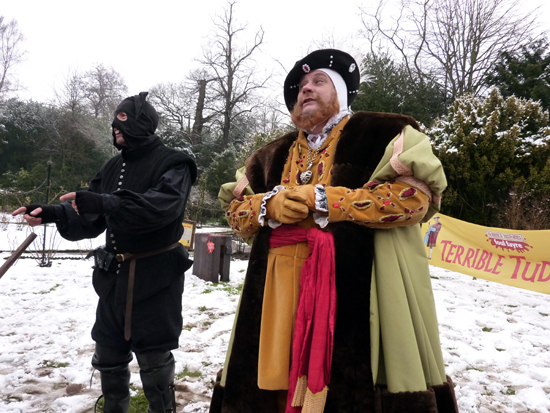 Henry VIII and his royal executioner rapping!