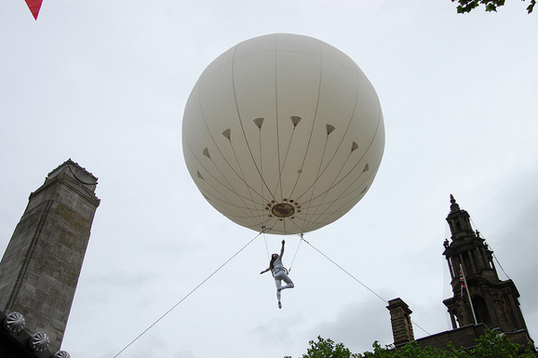 Helioscope acrobatics at the First Proclamation on 18 August 2012. Once In A Preston Guild