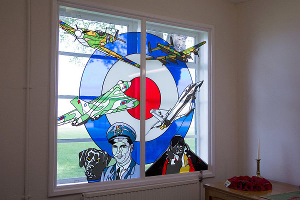 Stained glass window at RAF Scampton