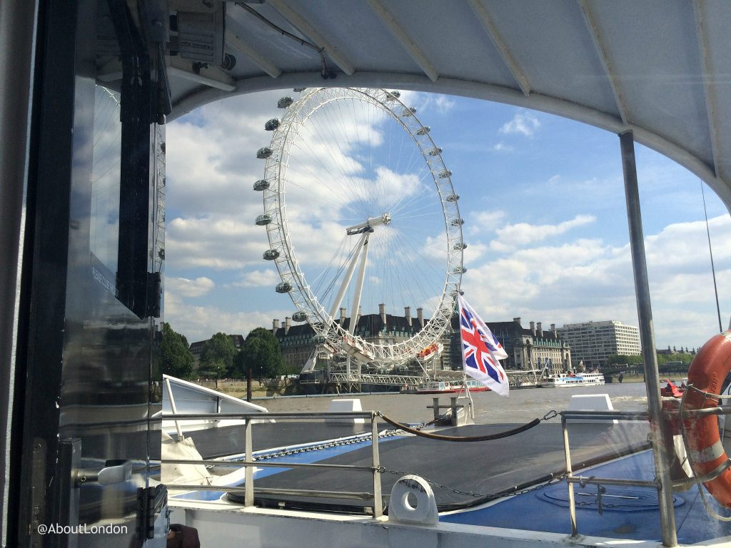 London Eye seen from Thames Clippers