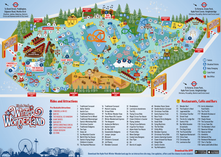 Hyde Park Winter Wonderland Map London Hyde Park Winter Wonderland 2017   What to Expect Hyde Park Winter Wonderland Map