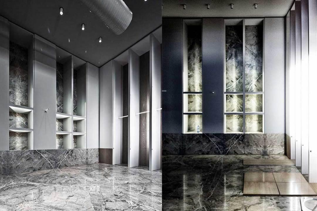 Store corner Breccia blu - Milano - Project by Antonino Cardillo