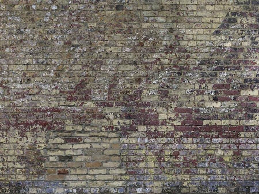 Vintage Brick Wallpaper features a distressed brick with peeling paint, perfect for bedroom, living room or office walls. Faux brick wallpaper from AboutMurals.ca.