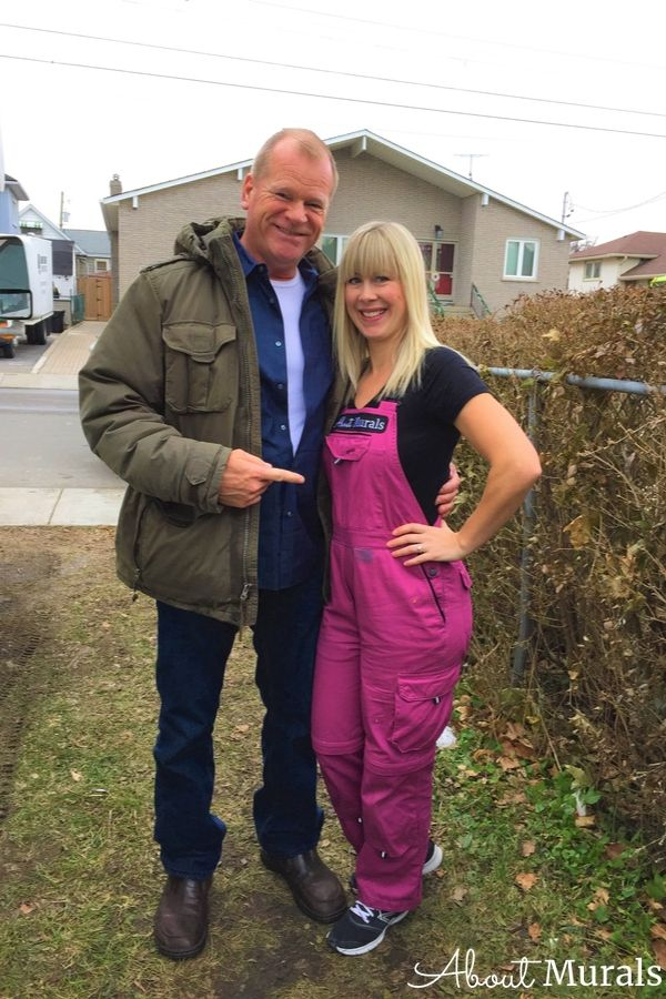 Mike Holmes and Adrienne Scanlan of AboutMurals.ca