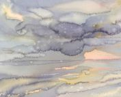 Watercolor wallpaper is a grey abstract painting printed on removable wallpaper that ships free in North America.