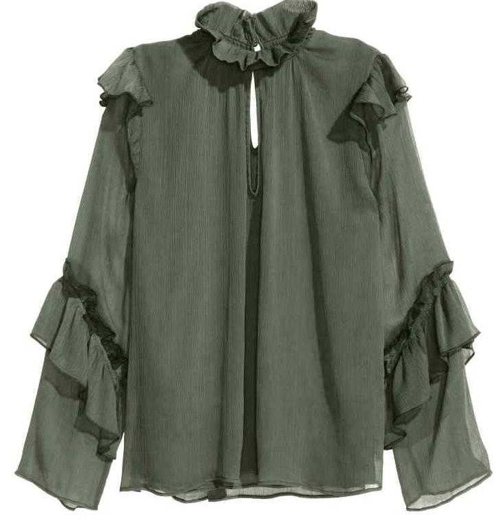 blouse froissée H&M