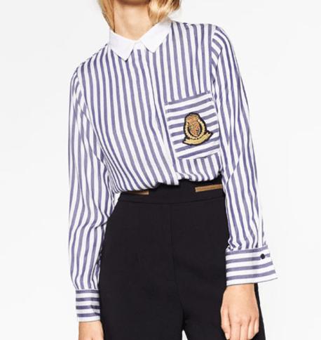 Chemise à rayures Zara