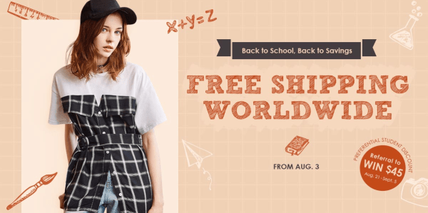 zaful back to school banner