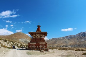 A chorten is a common site in the Mustang region