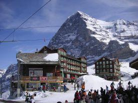 Ski resort in Eiger, Italy
