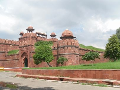 Front view of the Red Fort