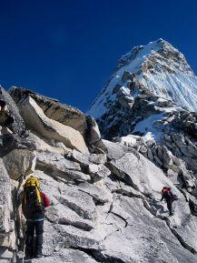 climbers at Ama Dablam
