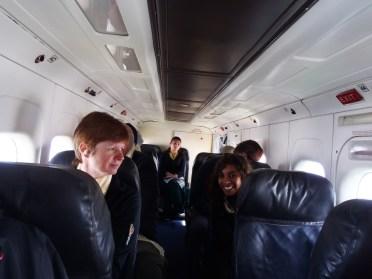 Passengers inside Lukla flight