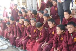 Young monks from Choden monastery