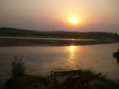 A typical sunset at Chitwan
