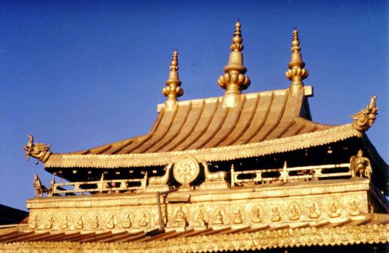 Gilt roof of the Jokhang temple