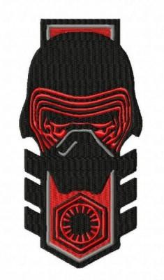 Star Wars Kylo Ren Badge Style Embroidery Design