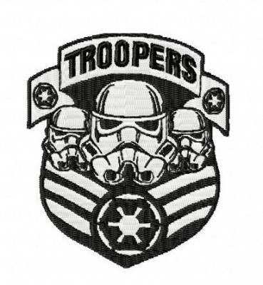 Star Wars Troopers Patch Style Embroidery Design
