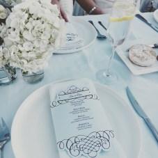 The menus and floral decor I made.