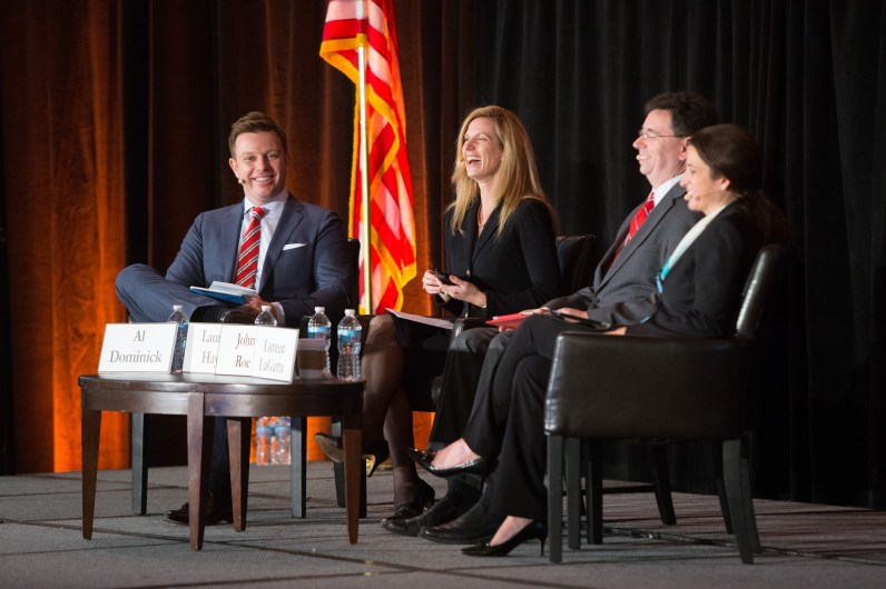 Sharing a laugh w/ some of our panelists
