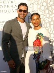 BEVERLY HILLS, CALIFORNIA - JULY 10: Tom Ellis (L) and Lesley-Ann Brandt attend the American Friends of Covent Garden - 50th Anniversary celebration held at Jean-Georges Beverly Hills on July 10, 2019 in Beverly Hills, California. (Photo by Michael Tran/FilmMagic)