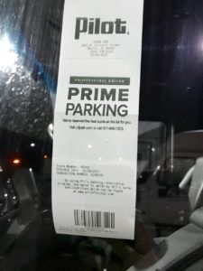Reserved parking receipt