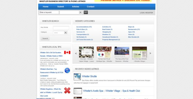 WhistlerIndex.com :: Business Directory Website