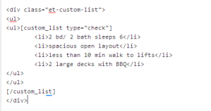 WordPress Shortcode Custom Icon Lists