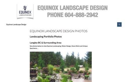 EquinoxLandscapeDesign.com :: Landscaping Website