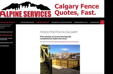 FenceQuotesCalgary.com :: Contractor Website